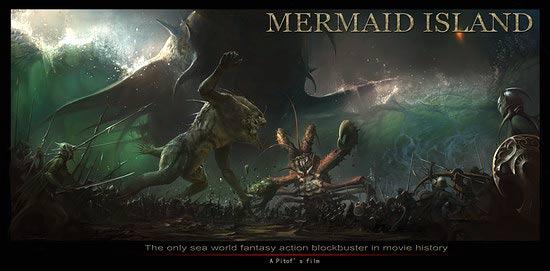 Details on Mermaid Island