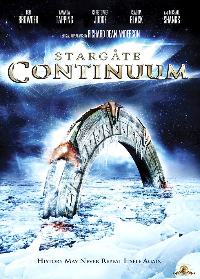 Win a free copy of the Stargate: Continuum DVD or a signed poster