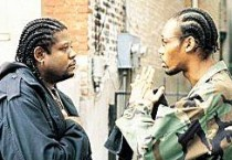 Forest Whitaker and RZA in Jim Jarmusch film Ghost Dog The Way of the Samurai