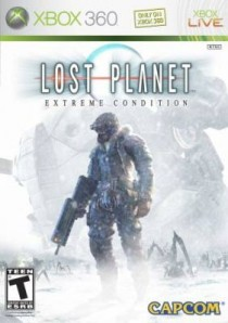 Capcom Lost Planet game box cover