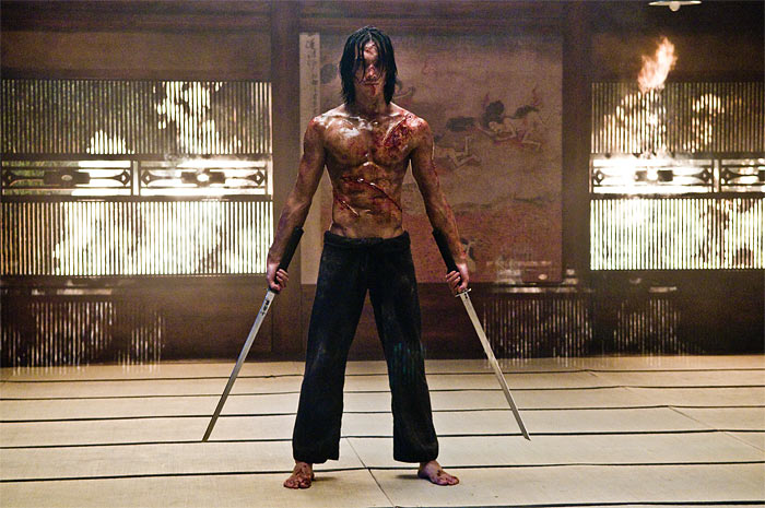 All the details on the Wachoski Brothers' Ninja Assassin, plus a bloody still from the film