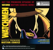 Ad for Warner Premiere's Motion Comics downloads