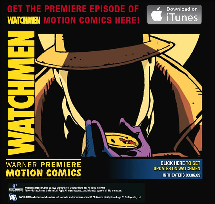 Warner Premiere's Motion Comics launches with debut episodes of Watchmen and Batman: Mad Love