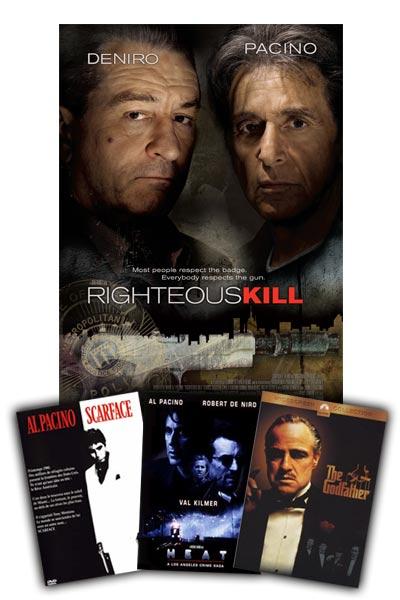 Robert De Niro and Al Pacino star in Righteous Kill
