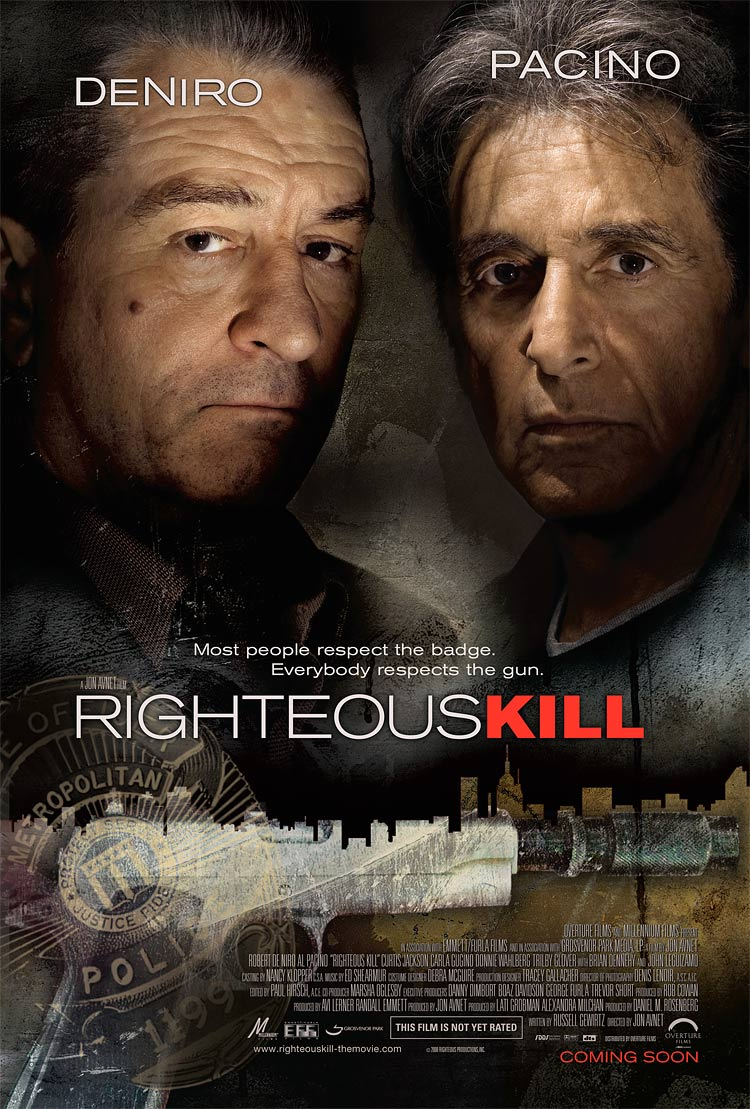 Special new contest – WIN De Niro and Pacino crime classics on DVD and a Righteous Kill movie poster from FilmFetish.com