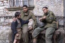 (L TO R) Matteo Sciabordi, Omar Benson Miller and Michael Ealy in Miracle at St. Anna