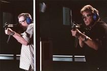 Robert DeNiro and Al Pacino practice shooting in Righteous Kill