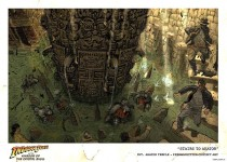Circuit City lithograph of concept art from Indiana Jones and the Kingdom of the Crystal Skull