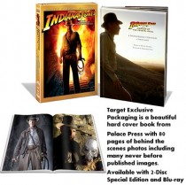 Target exclusive 80 page hardcover book packaging, from Indiana Jones and the Kingdom of the Crystal Skull