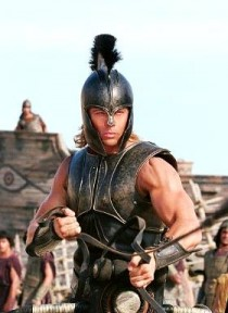 Brad Pitt as Achilles in the Wolfgang Petersen film Troy