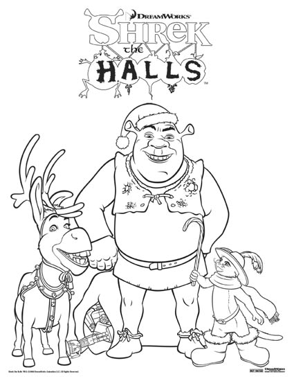 Shrek the Halls DVD review and free coloring sheet download