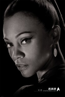 Zoe Saldana as Nyota Uhura in Star Trek