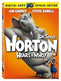 DVD box cover for Dr. Seuss Horton Hears a Who