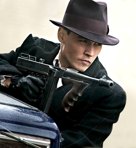 First pics of Public Enemies Johnny Depp and Christian Bale