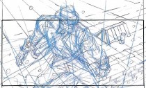 Storyboards from the Frank Miller film Will Eisners The Spirit