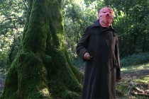 Man in the pink mask in the Nacho Vigalondo film Timecrimes. Photo courtesy of Magnet Releasing.