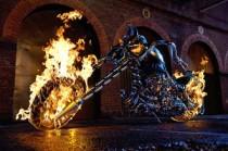 Ghost Rider's hunk a burnin bike