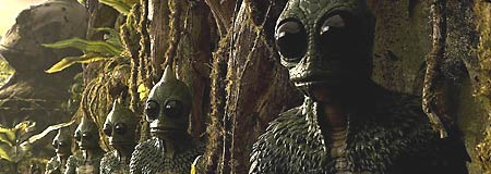 The Sleestak from the Will Ferrell movie Land of the Lost