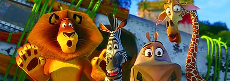 The crew from Madagascar Escape 2 Africa
