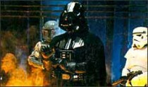 Darth Vader in a scene from Episode 4: A New Hope