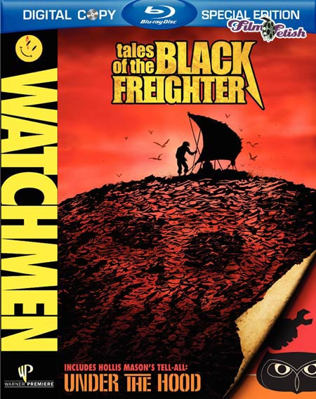 Watchmen Tales of the Black Freighter Blu-ray release box art
