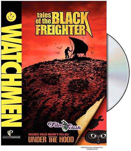 Watchmen Tales of the Black Freighter DVD release box art