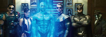 The anti-heroes in the Zack Snyder film Watchmen