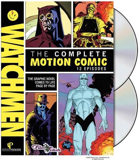 Watchmen Motion Comic DVD release box art