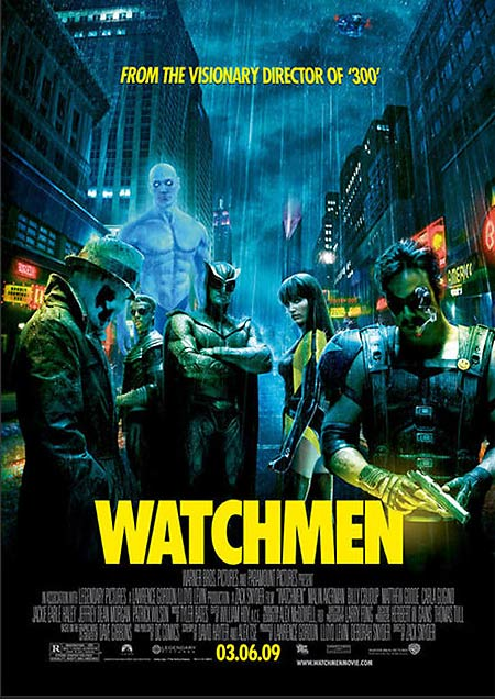 CLICK on the image to see a larger view of the Watchmen one sheet