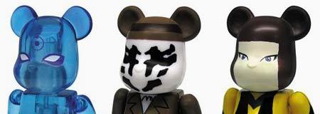 Doctor Manhattan - Rorschach and Silk Specre II Bearbrick Watchmen Toys