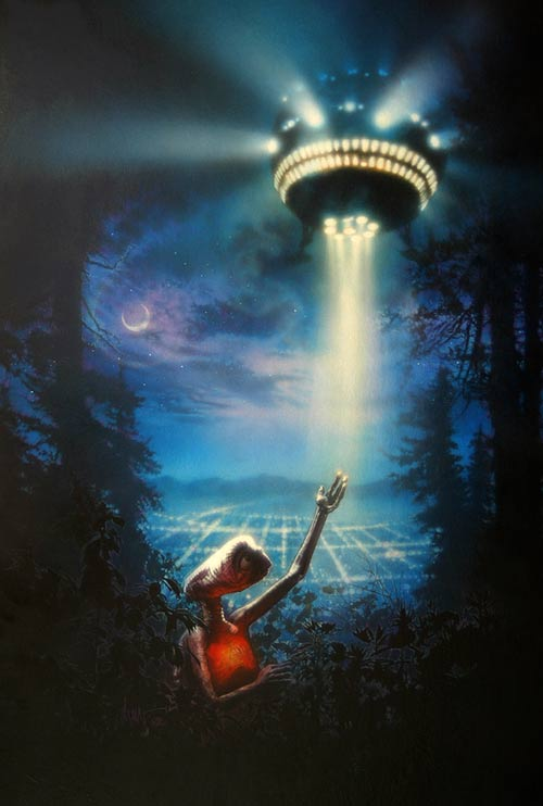 Drew Struzan movie poster for E.T.: The Extra-Terrestrial