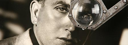 Fritz Lang and his monocle from Metropolis