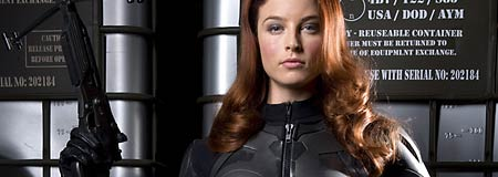 Rachel Nichols as Shana O'Hara aka Scarlett in G.I. Joe: The Rise of Cobra