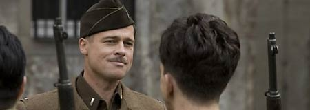 Brad Pitt plays Lt. Aldo Raine in Inglourious Basterds