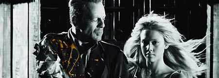Bruce Willis and Jessica Alba in Sin City