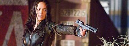 Moon Bloodgood as resistance fighter Blair Williams in Terminator: Salvation