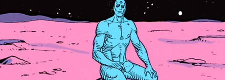 Dr. Manhattan from the Watchmen graphic novel