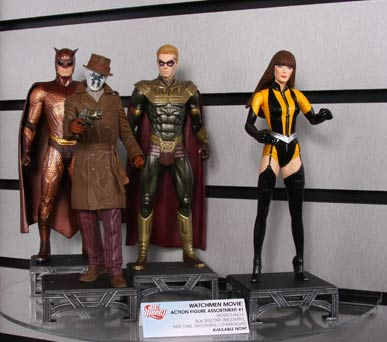 Nite Owl - Rorschach - Ozymandias and Silk Spectre action figures from DC Direct