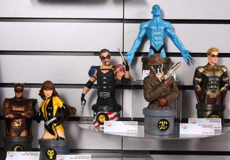 The Comedian - Rorschach - Silk Spectre - Nite Owl - Ozymandias and Dr. Manhattan mini-busts from DC Direct