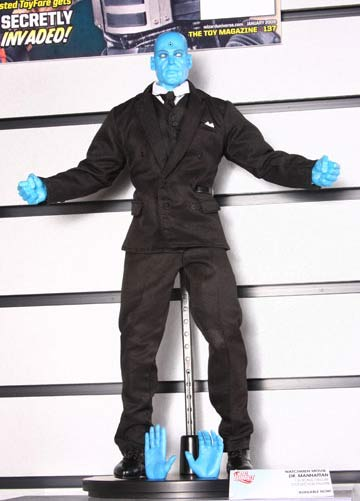 Dr. Manhattan 1:6 scale deluxe collector figure from DC Direct with suit on