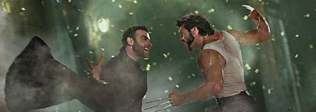 Liev Schreiber and Hugh Jackman square off in X-Men Origins: Wolverine