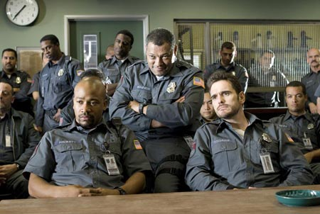 Columbus Short - Laurence Fishburne and Matt Dillon in Armored.