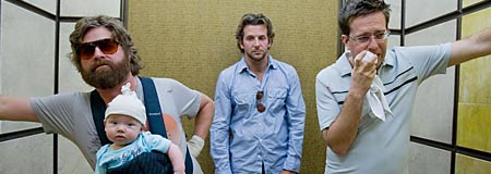 Zach Galifianakis - Bradley Cooper and Ed Helms in The Hangover