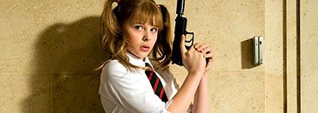 Chloe Moretz as Hit Girl in Kick-Ass
