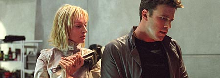 Uma Thurman and Ben Affleck in Paycheck