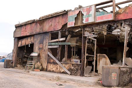 A post-apocalyptic 7-Eleven store plays a role as the safe haven for the Resistance in Terminator Salvation