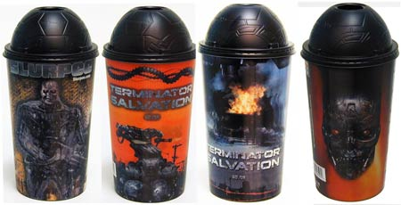 7-Eleven stores in the US and Canada now offer four 3D collectible cups and character straws featuring terminators from the movie