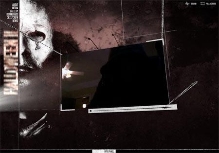 Screenshot from the Halloween II website