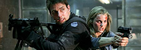 Tom Cruise and Keri Russell in Mission Impossible III