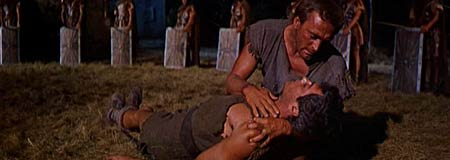 Kirk Douglas and Tony Curtis in the 1960 Stanley Kubrick film Spartacus